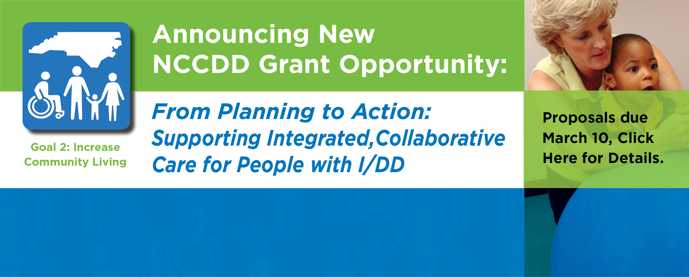 Announcing New NCCDD Grant Opportunity: From Planning to Action: Supporting Integrated, Collaborative Care for People with I/DD