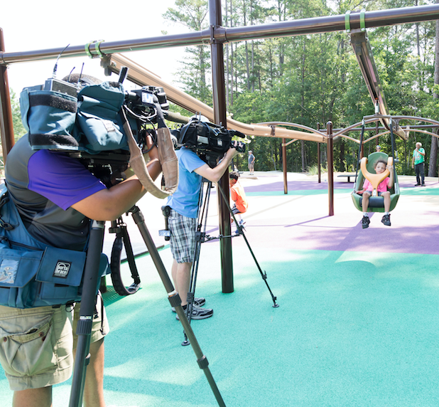 Media coverage at accessible park opening