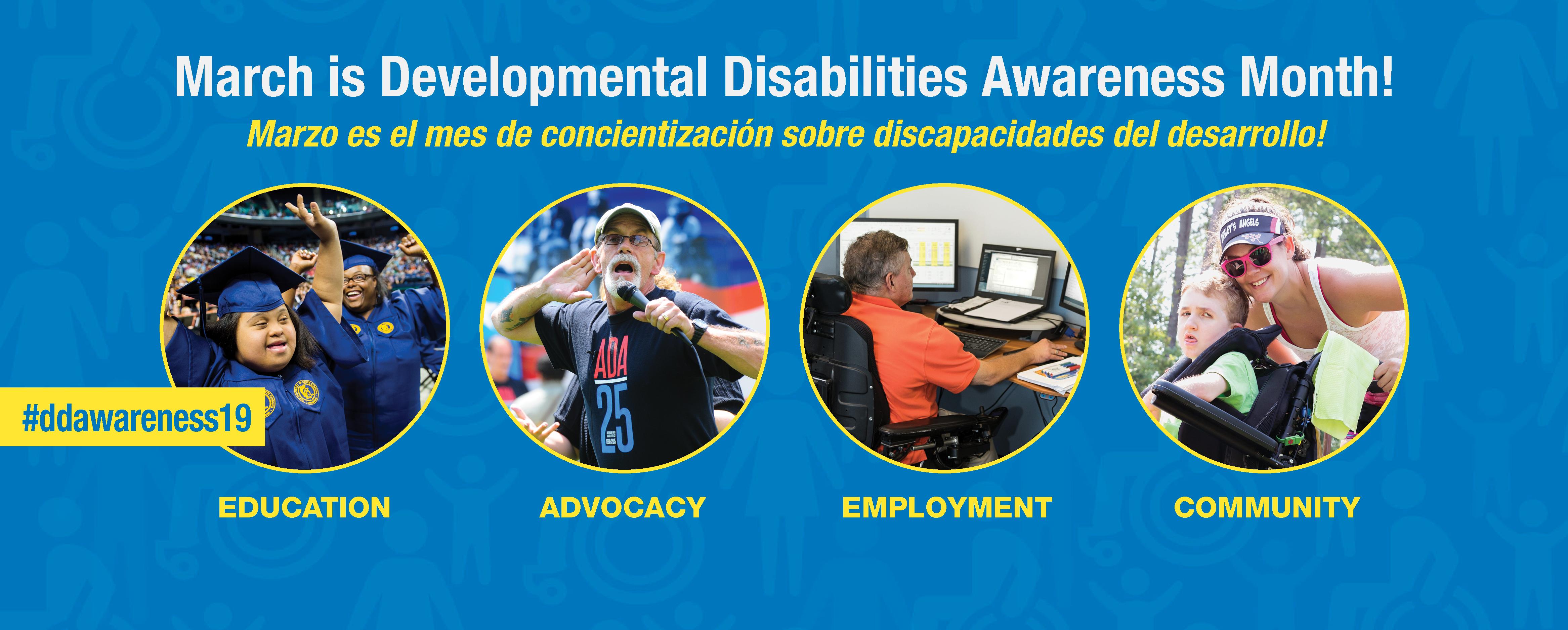 March is Developmental Disabilities Awareness Month! Marzo es el mes de concientización sobre discapacidades del desarrollo. #ddawareness19Developmental Disabilities Awareness Month! See Me For Me. Marzo es el mes de concientiza