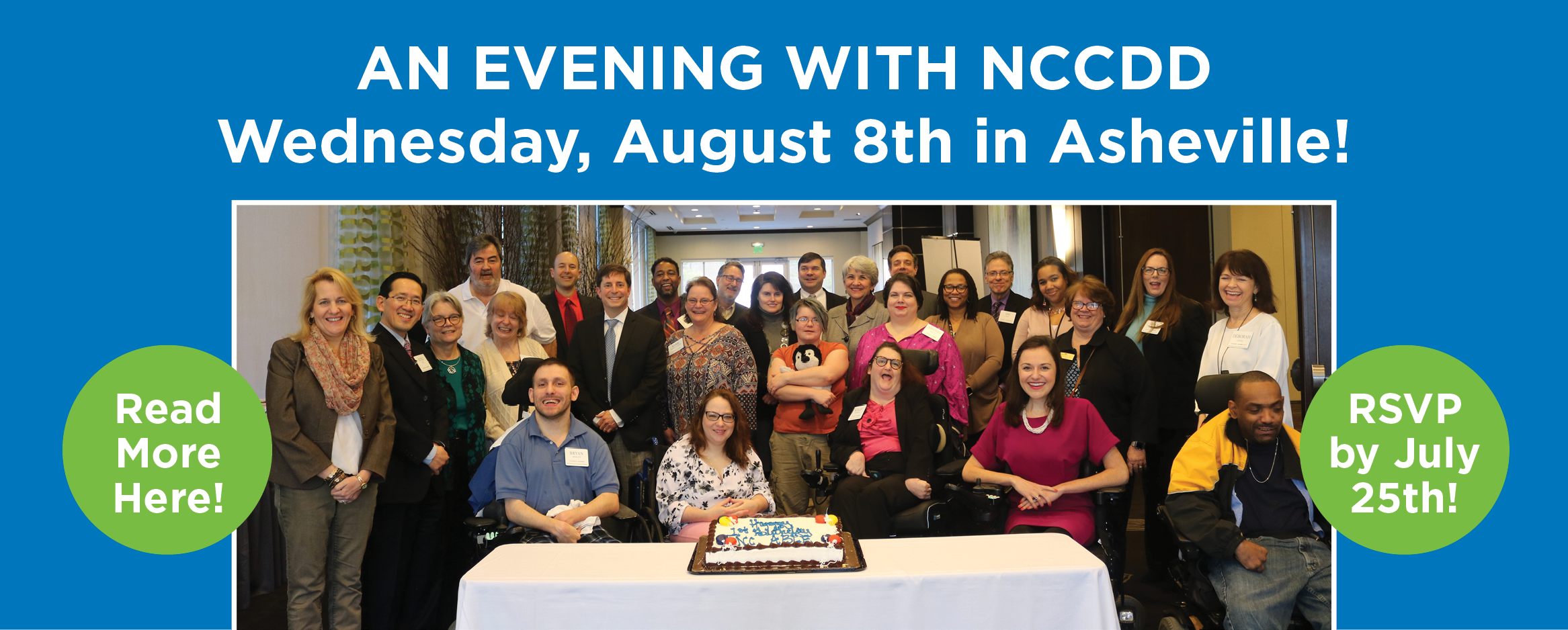 Join us for an Evening with NCCDD, Wednesday, August 8th in Asheville!