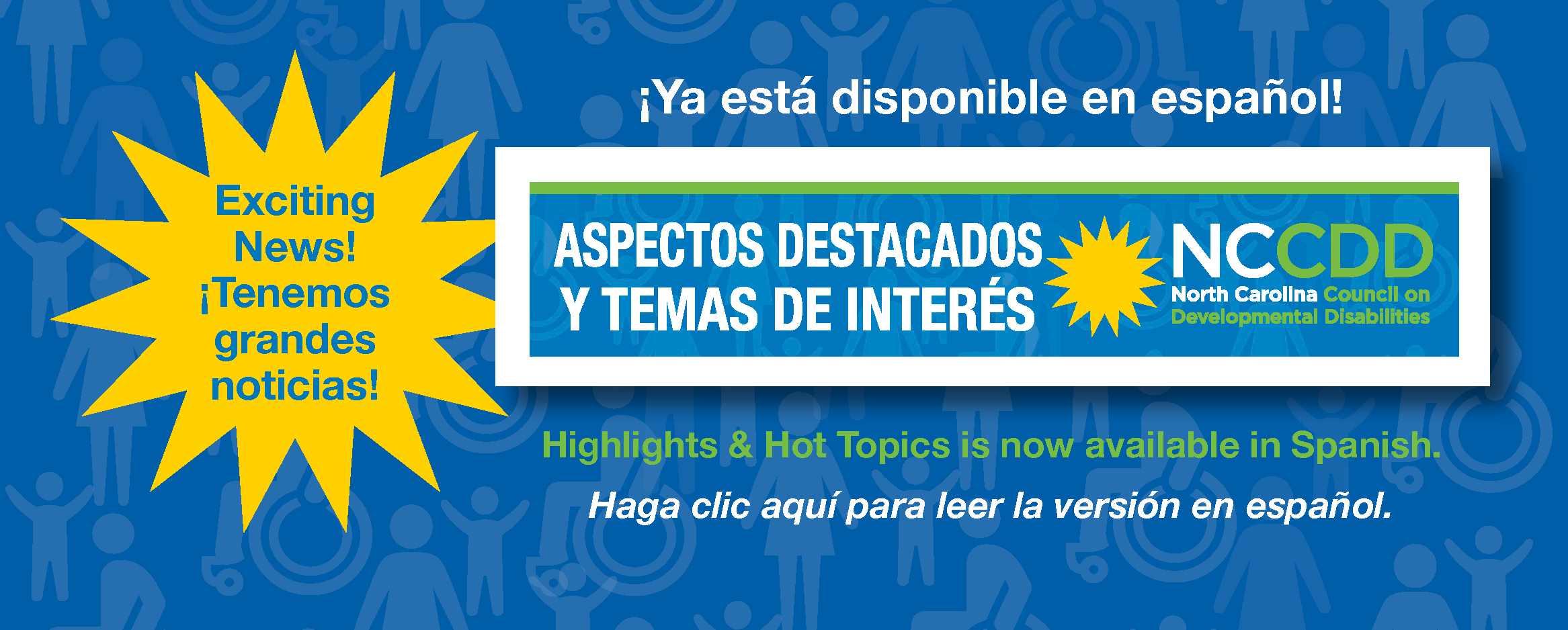 Highlights & Hot Topics is now available in Spanish. Enero 2019 – Aspectos destacados y temas de interés ¡Ya está disponible en español!