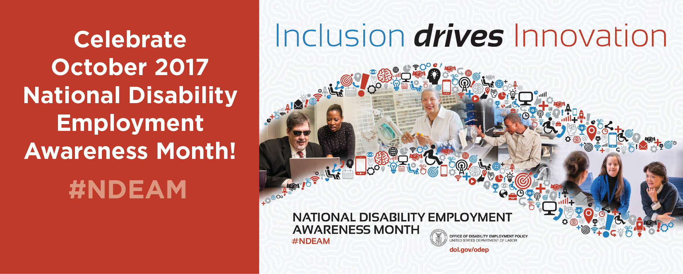 Celebrate National Disability Employment Awareness Month October 2017, #NDEAM
